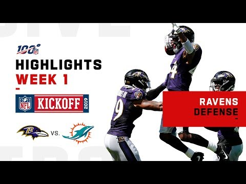 Ravens Defense Dominates Dolphins | NFL 2019 Highlights