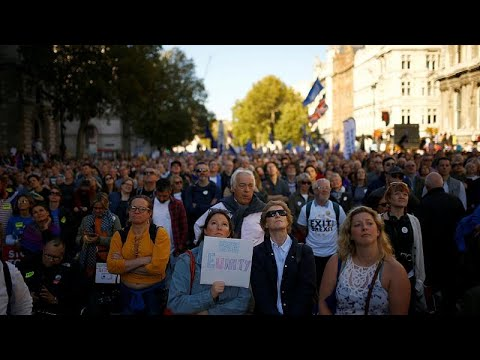 London: Mehr als 500.000 demonstrieren für 2. Brexit-Refe ...