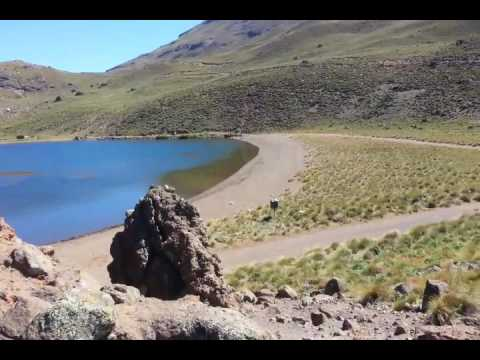 Laguna Hualcupen by Cagiva Canyon 500