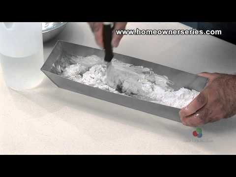How to Texture Drywall - How to Mix Patch Mud - Drywall Repair