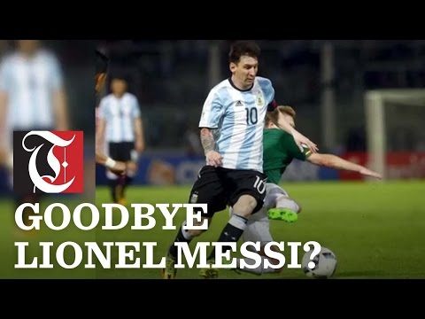 Lionel Messi has said he will retire from international soccer, after Argentina was beaten by Chile in the Copa America final.
