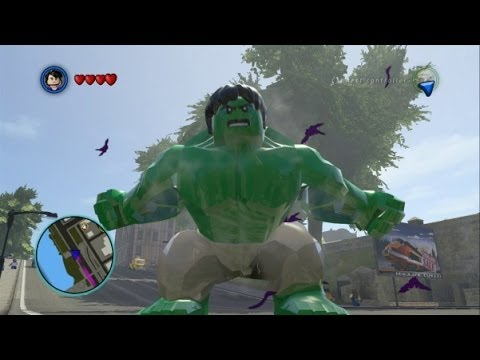 Hulk - This video shows some free roam gameplay with Hulk and Abomination in LEGO Marvel Super Heroes. LEGO Marvel Super Heroes Playlists http://www.youtube.com/pla...