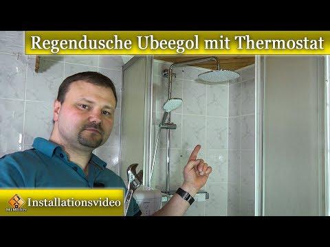 Montageanleitung Regendusche mit Thermostat, Duscharmatur und Duschsäule - Ubeegol 3001