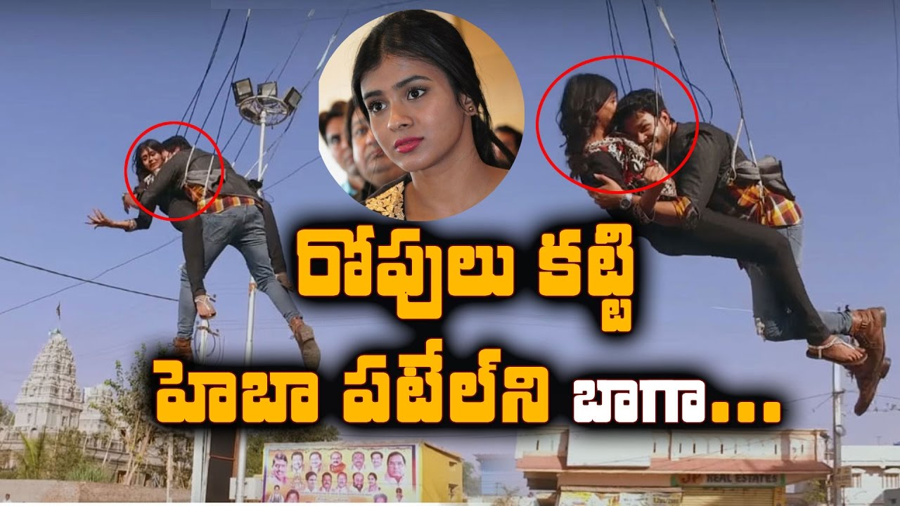 Hebba Patel Stunts In Movie Sh00ting..!!