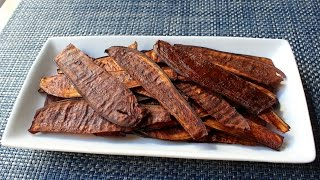 Eggplant Bacon - Crispy Bacon-Spiced Eggplant Chips by Food Wishes