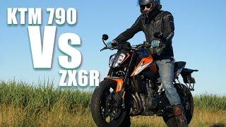 10. KTM 790 Duke vs ZX6R