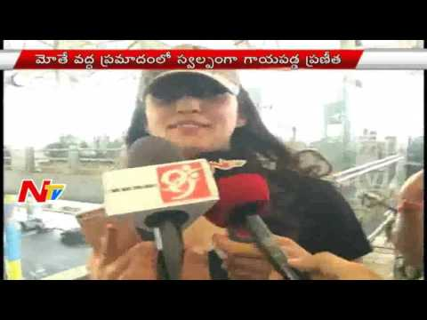 Pranitha Road Accident: Pranitha Face to Face after Accident