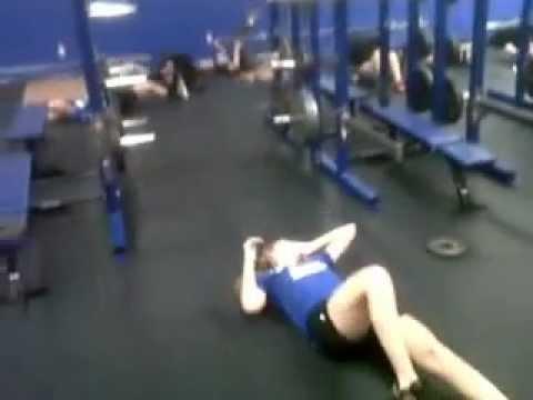 Blue Jay girls hockey weight training