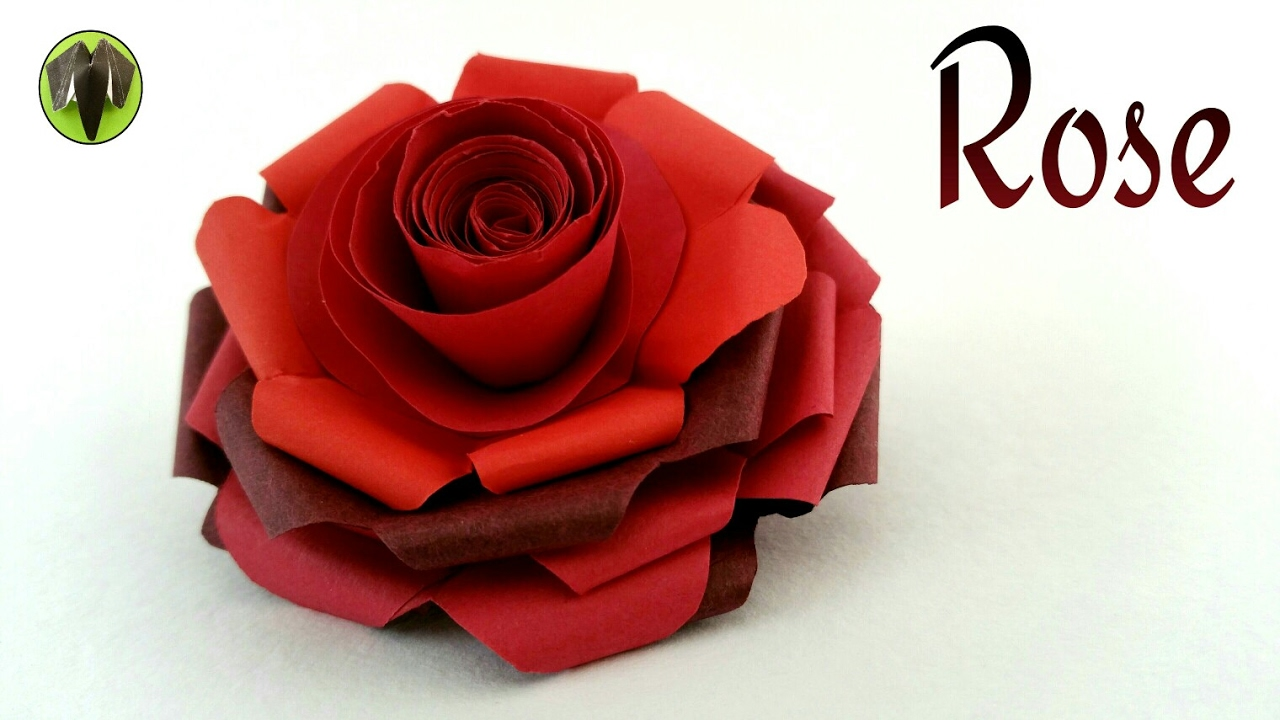Flowers paperfolds origami arts and crafts tutorial on how to make a beautiful paper rose happy valentines day izmirmasajfo