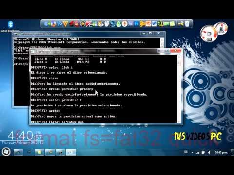 Hacer una memoria USB booteable sin programas