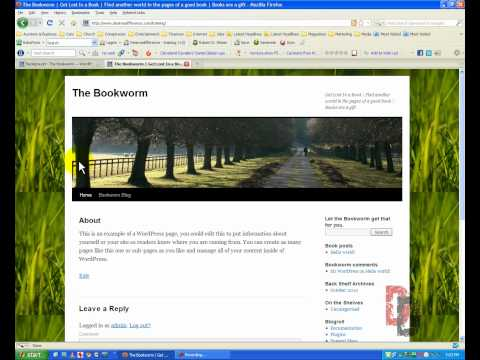 WordPress Tutorial For Beginners Part 5 – Appearance Settings, Menus and Widgets