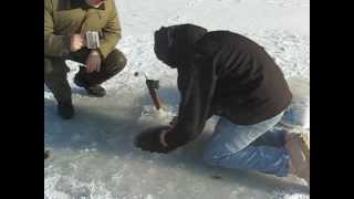 Video Catching a fish as BIG as me while ice fishing, reeling it in by hand. MP3, 3GP, MP4, WEBM, AVI, FLV Desember 2017