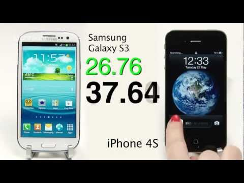Galaxy S3 vs iphone 4S - Galaxy S3 vs iPhone 4S Speed Test - camera, processor, turn-on. Apple vs Android. We pit two top smartphones against eachother and test the speed. For the fu...