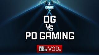 OG vs PD Gaming, ESL One Genting Quals, game 1 [4ce]