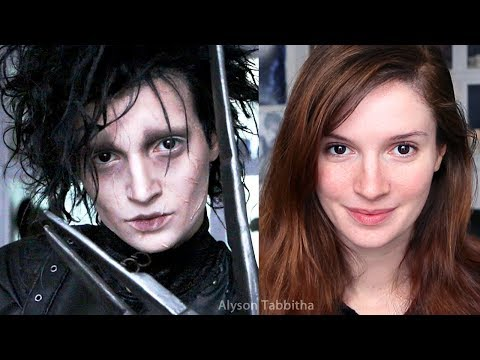 Edward Scissorhands Makeup Transformation - Cosplay Tutorial