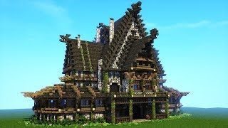 Minecraft Viking House Tutorial - Nordic and Rustic Mansion!