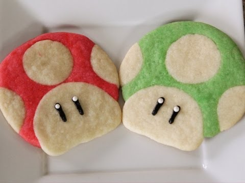 Cookies - Today I made Super Mario Mushroom Cookies!! LIKES and SHARES are greatly appreciated! // For the latest videos, Subscribe! http://bit.ly/iHasCupquakeYT // Su...