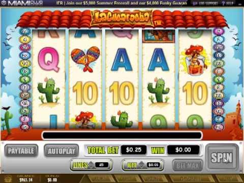 Miamiclubcasino.im - La Cucaracha (5 Reel Slot BONUS Review)