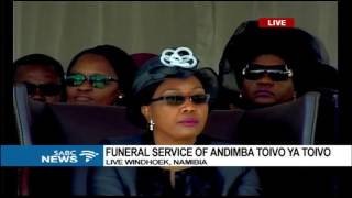 Namibia's struggle icon, Toivo Ya Toivo, is being given a heroes funeral today. Yesterday, the 92-year-old was honoured by former heads of state and ordinary ...