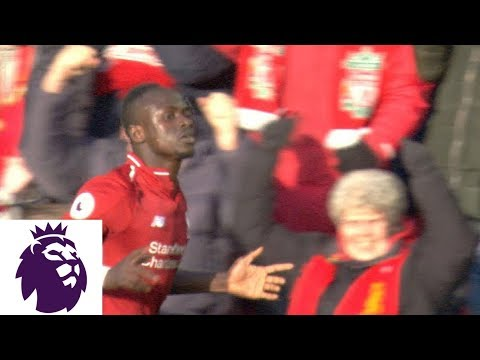 Sadio Mane Opens The Scoring With Header For Liverpool V. Bournemouth | Premier League | NBC Sports