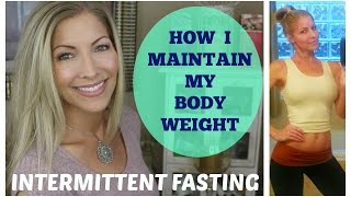 """Articles about Intermittent Fasting:http://articles.mercola.com/sites/articles/archive/2016/10/16/complete-guide-fasting.aspxhttp://jamesclear.com/the-beginners-guide-to-intermittent-fastinghttps://authoritynutrition.com/intermittent-fasting-and-weight-loss/http://www.express.co.uk/life-style/health/708572/Slimming-5-2-diet-health-figure-body-calories----------------------------------------------------------------------------------------------------------This video is going to be about how I maintain my weight…it's called Intermittent Fasting 16/8 method.   In this video I'm going to tell you about HOW I eat and why it works.  And in my next video I'm going to give you an idea of WHAT I eat on a weekly basis and why.    I am not a Nutritionist or Dietician.   I've been eating the way I do for over 20 yrs now, and it's just an eating style and pattern that has always worked for me.  I've never been someone who diets, nor have I ever struggled with my weight.  I'm 5' 3.5"""" and I weigh 110 lbs. I eat the way I do for 2 reasons.  1. Because I """"feel"""" my best when I eat this way….meaning I have the most energy…and I'm rarely hungry, which means I'm not always thinking about what I'm going to eat next (which leaves you feeling helpless sometimes leads to excessive snacking).  2. Because I have a certain idea or goal in my mind about the way that I want to look, dressed and undressed, and this style of eating has always worked to achieve that goals for me. So what Intermittent Fasting is, is basically an eating pattern where you have about an 8 hour window when you eat, and a 16 hour window when you fast. There is actually scientific and physiological explanations for why it's a healthy practice and why it is so efficient in keeping energy levels high, weight off and allows you to maintain muscle tone with light exercise. The way that Intermittent Fasting is explained in the literature is that when you begin eating a mea,l or food in general, your body naturally goes into a """