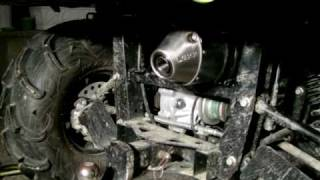 9. My new Exhaust for my Yamaha Rhino LEXX MxE-Silencer in