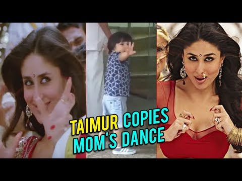 Taimur Copies Mom's Chammak Challo Step