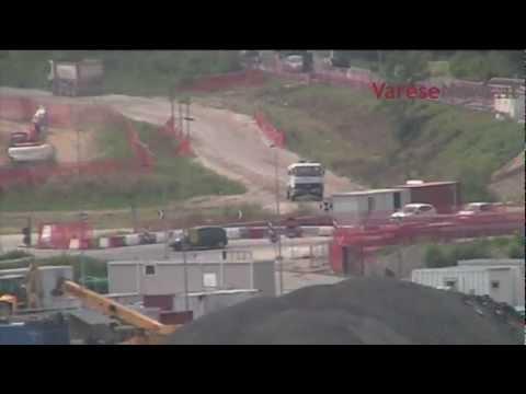 Pedemontana: il cantiere di Lozza visto dall'alto
