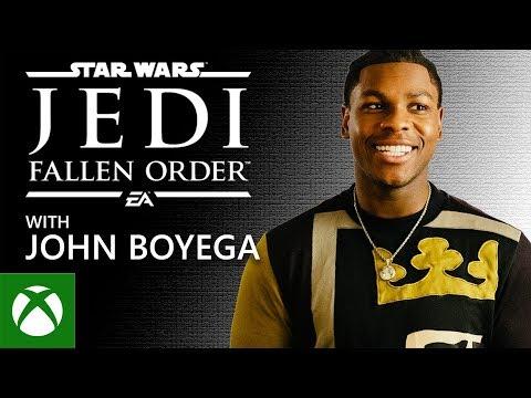 John Boyega's first time playing STAR WARS Jedi: Fallen Order