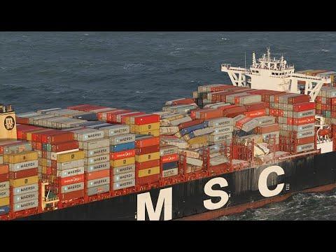 Nordsee: Suche nach mehr als 200 verlorenen Container ...