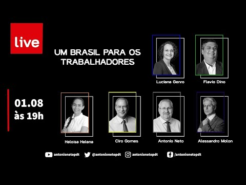 LIVE: É possível uma frente contra Bolsonaro? Por Ciro, Dino, Luciana Genro, Molon e Heloisa Helena