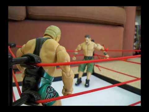 backroompokerstar - Finlay misses a turnbuckle clothesline on John Cena.