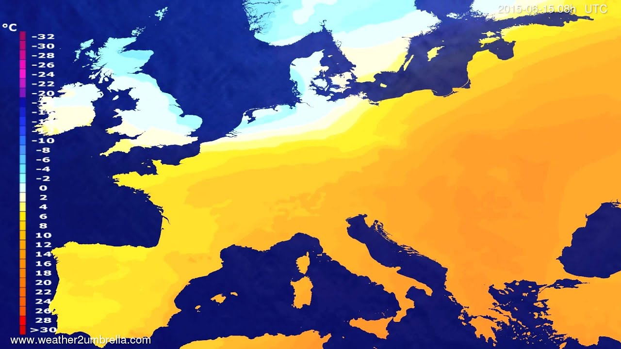 Temperature forecast Europe 2015-06-11