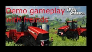 Farming Simulator 2013 Demo Game Play With Friends :D