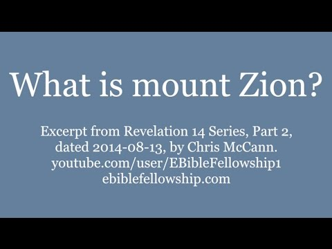 What is mount Zion?