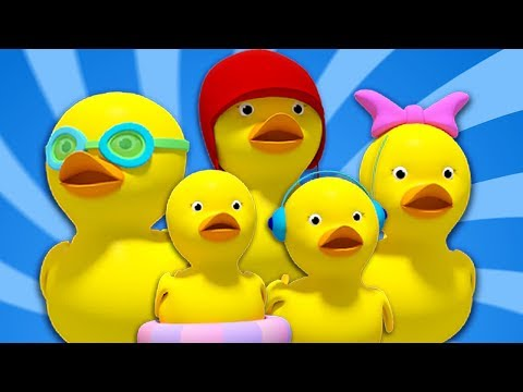 Fünf Kleine Enten | reime auf deutsch | Kinderlieder | Entenlied | Kids Rhymes | Five Little Ducks