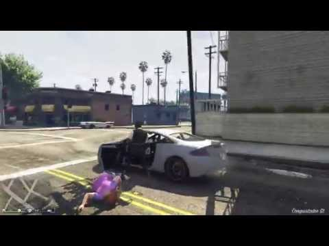 GTAV Lady Gets DESTROYED