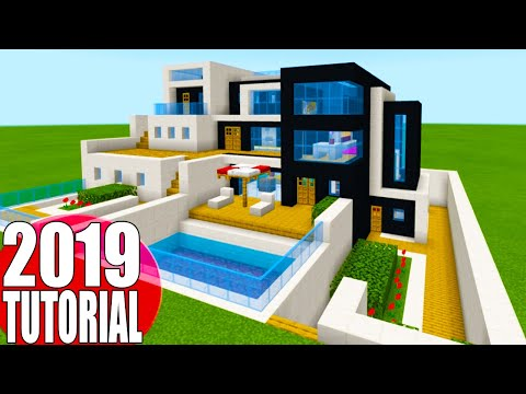 "Minecraft Tutorial: How To Make A The Ultimate Modern House 2019 2 ""2019 Modern House Tutorial"""