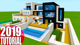 """Minecraft Tutorial: How To Make A The Ultimate Modern House 2019 2 """"2019 Modern House Tutorial"""""""