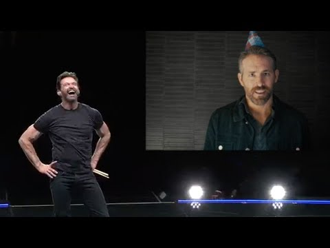 Ryan Reynolds surprises Hugh Jackman Happy Birthday Hugh