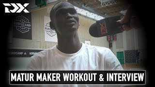 Matur Maker Workout at the Adidas EuroCamp in Treviso
