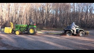 4. Arctic Cat 700 Diesel ATV vs. John Deere Tractor!