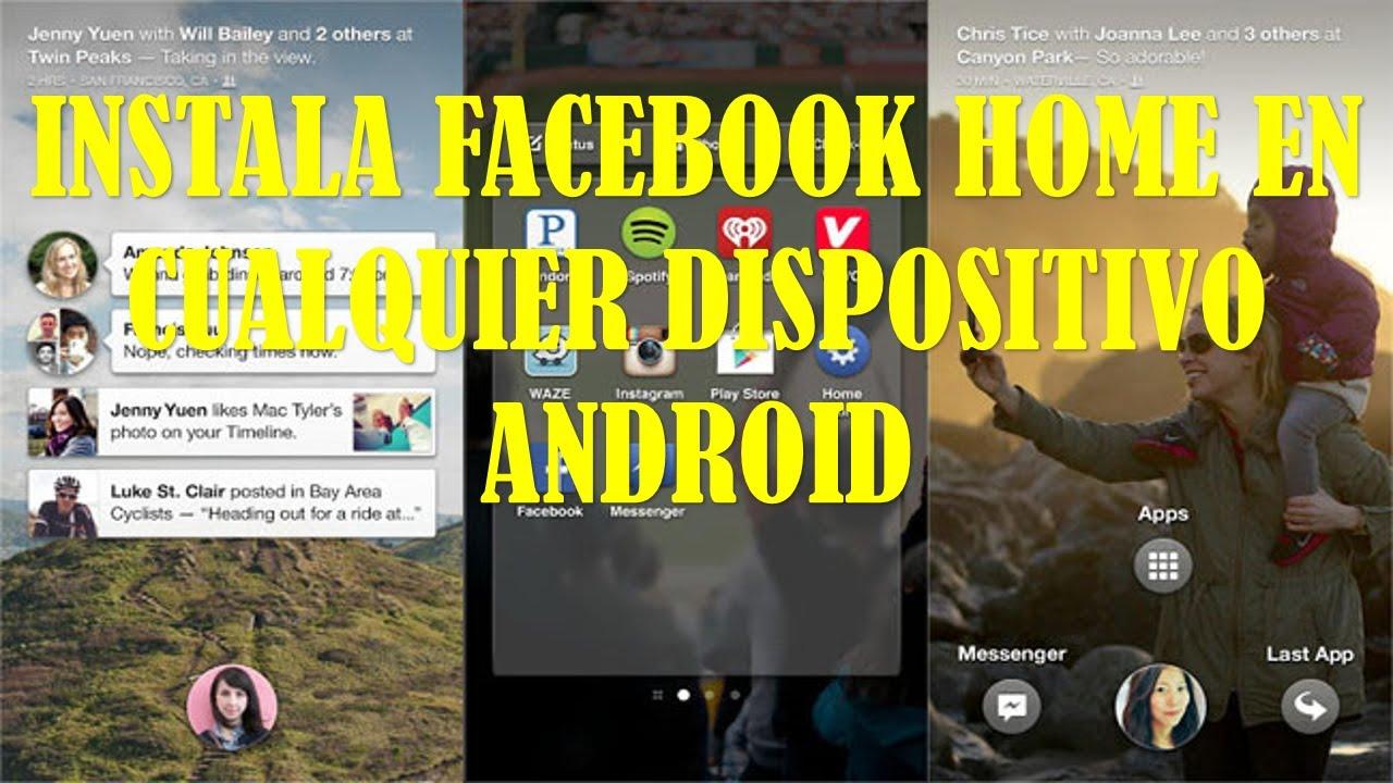 Descargar INSTALA FACEBOOK HOME PARA ANDROID APK para celular #Android