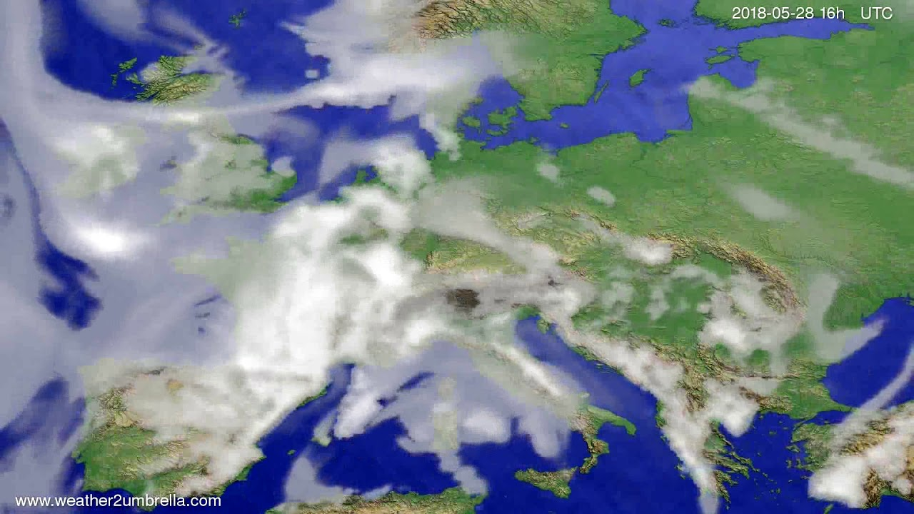 Cloud forecast Europe 2018-05-25