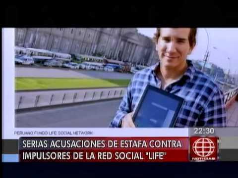 América Noticias - 100614 - Serias acusaciones de estafa contra impulsores de la red social Life