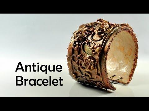 tutorial fimo - braccialetto antico