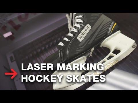 Laser Marking on Hockey Skates | Annealing Metal