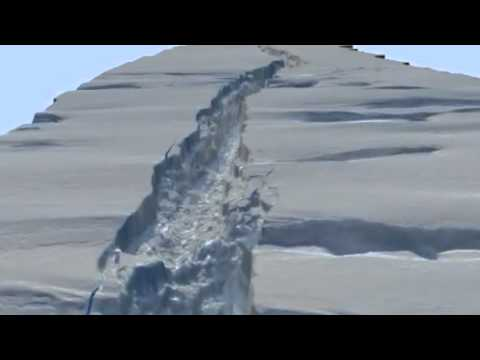 NASA Video Shows Pine Island Glacier Rupture Line