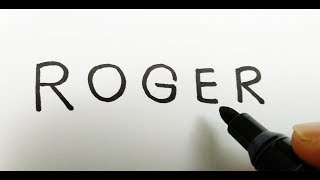 KEREN,, cara menggambar ROGER Mobile LEGENDS dari kata ROGER