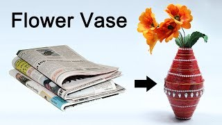 How to Make Flower Vase with Waste Newspaper, Best Out of Waste Craft Idea by CraftingHours. Latest Videos: https://goo.gl/b5Q7Oq Waste Material Craft Ideas:...